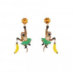 Boucles D'oreilles Originales Boucles D'oreilles Bruno Le Chimpanzé Et Sa Banane85,00€ ADGJ101T/1N2 by Les Néréides
