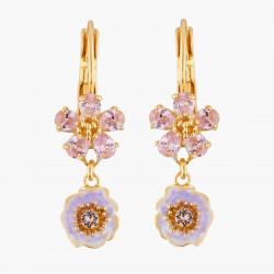 Boucles D'oreilles Dormeuses Dormeuses Mariage Deux Fleurs Roses Aux Pistils Dorés95,00€ AKJV106D/1Les Néréides