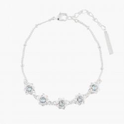 Bracelets Fins Bracelet Fin Mariage 5 Fleurs Et Cristaux Transparents80,00€ AKJV202/2Les Néréides