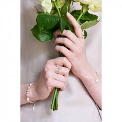 Bracelets Fins Bracelet Fin Mariage 5 Fleurs Et Cristaux Transparents