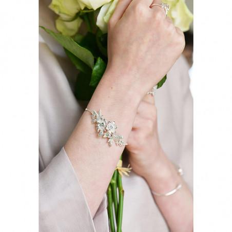 Bague 5 anneaux anémone bleue et fougère