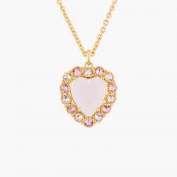 Colliers Pendentifs Collier Pendentif Mariage Cœur Rose Entouré De Cristaux Parme Et Rose100,00€ AKJV302/1Les Néréides