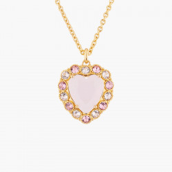 Pink Heart With Crystals In...