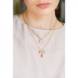 Colliers Pendentifs Collier Pendentif Mariage Ruban Et Cristal Rose