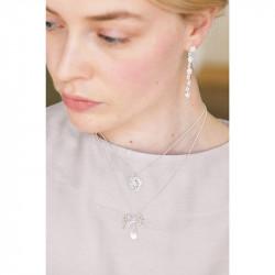 Colliers Pendentifs Collier Pendentif Mariage Ruban Et Cristal Transparent