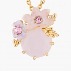 Colliers Pendentifs Collier Pendentif Mariage Fleurs Roses Sur Pierre Parme100,00€ AKJV304/1Les Néréides