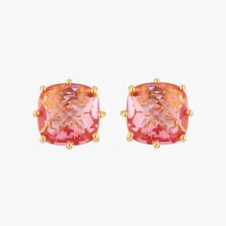Boucles D'oreilles Tiges Boucles D'oreilles Tiges Pierre Carrée Rose Pêche La Diamantine Multicolore50,00€ AKLD101T/1Les Nér...