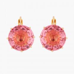 Boucles D'oreilles Dormeuses Boucles D'oreilles Dormeuses Pierre Ronde Rose Pêche La Diamantine Multicolore