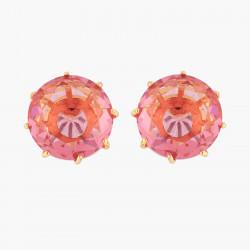 Boucles D'oreilles Tiges Boucles D'oreilles Tiges Pierre Ronde Rose Pêche La Diamantine Multicolore