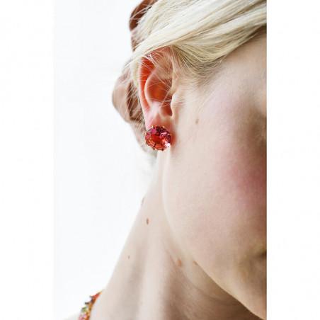 Boucles d'oreille petites roses et perle d'eau douce