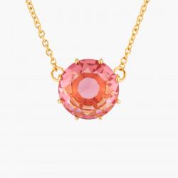 Colliers Pendentifs Collier Pendentif Pierre Ronde Rose Pêche La Diamantine Multicolore