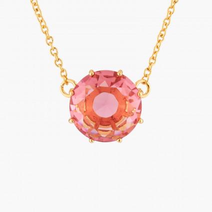 Bracelet semi rigide roses et petites pierres taillées
