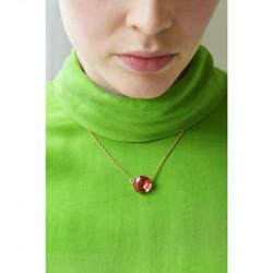 Colliers Pendentifs Collier Pendentif Pierre Ronde Rose Pêche La Diamantine Multicolore60,00€ AKLD301/1Les Néréides