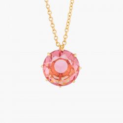 Colliers Sautoirs Collier Sautoir Pierre Ronde Rose Pêche La Diamantine Multicolore
