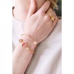 Bracelets Fins Bracelet Fin Mariage Florilège De Cristaux Parmes Et Roses