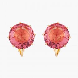 Boucles D'oreilles Dormeuses Boucles D'oreilles Clip Pierre Ronde Rose Pêche La Diamantine Multicolore60,00€ AKLD140C/1Les N...