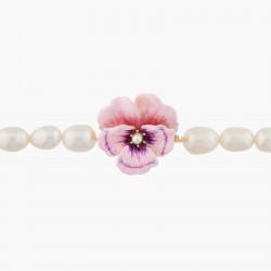 Bracelets Fins Bracelet Pensée Rose Et Perles Baroques190,00€ AKMP201/1Les Néréides