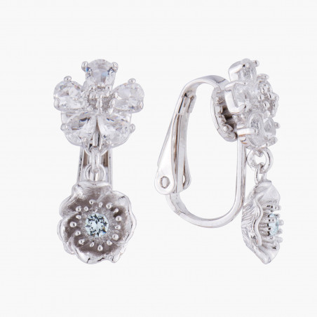 Engraved lock earrings