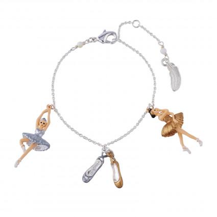 Bracelets Bracelet Ballerines Cygnes Doré Et Argenté Et Chaussons De Danse60,00€ AIBB201/1N2 by Les Néréides