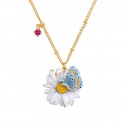 Colliers Pendentifs Collier Pendentif Fleur Unique Et Papillon