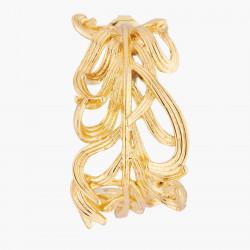 Boucles D'oreilles Creoles Créoles Tige Plume De Cygne Dorée110,00€ AKCY106T/1Les Néréides