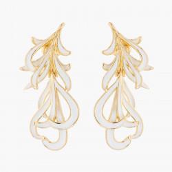 Boucles D'oreilles Clip Boucle D'oreille Clips Plumes De Cygne Blanche Et Dorée110,00€ AKCY107C/1Les Néréides