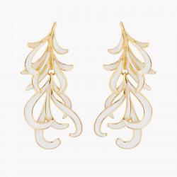 Boucles D'oreilles Pendantes Boucle D'oreille Tiges Plumes De Cygne Blanche Et Dorée110,00€ AKCY107T/1Les Néréides