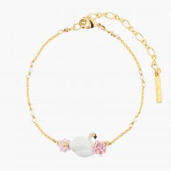 Bracelets Fins Bracelet Fin Cygne Blanc Et Ses Nénuphars