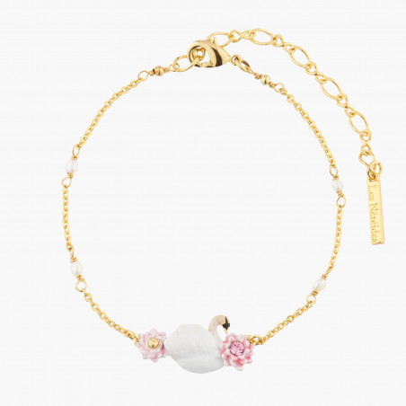 Alice and the rabbit are upside down necklace