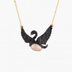 Colliers Fins Collier Fin Cygne Noir Volant Et Perle Baroque Grise120,00€ AKCY302/2Les Néréides