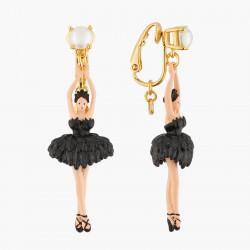 Boucles D'oreilles Clip Boucles D'oreilles Clips Ballerine Noire Tutu Plume95,00€ AKDD115C/2Les Néréides