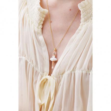 Sautoir cordon Vampirella blanc