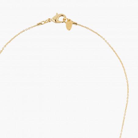 Black and yellow Vampirella long necklace
