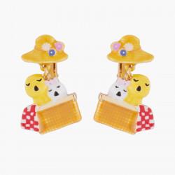 Boucles D'oreilles Originales Boucles D'oreilles Clips Duo De Cygneaux Et Panier70,00€ AKGJ101C/1N2 by Les Néréides