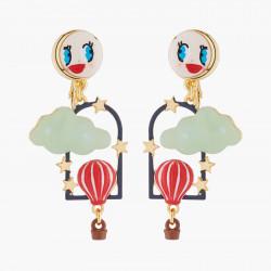 Boucles D'oreilles Originales Boucles D'oreilles Clips Mongolfière Et Lune85,00€ AKTE108C/1N2 by Les Néréides