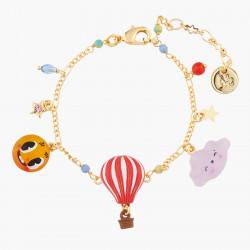 Bracelets Bracelet À Chaînes Nuage, Soleil Et Montgolfière