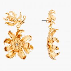 Boucles D'oreilles Pendantes Boucles D'oreilles Pendantes Tiges Fleur Et Algue Marine160,00€ AKTT102T/1Les Néréides