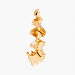 Boucles D'oreilles Tiges Boucle D'oreille Tige Algue Précieuse Et Perle