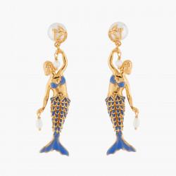 Pendientes Sirena Y Perlas...