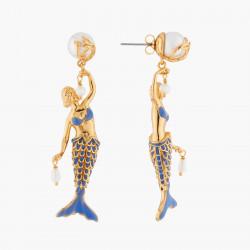 Boucles D'oreilles Pendantes Boucles D'oreilles Sirène Et Perles D'eau Douce