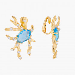 Boucles D'oreilles Clip Boucles D'oreilles Clip Corail Pierre Bleue Et Cristaux120,00€ AKTT106C/1Les Néréides