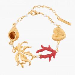 Bracelets Fins Bracelet À Chaînes Coquillages, Corail, Algue Et Perle