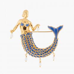 Broche Sirena Y Perlas De...
