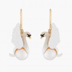 Boucles D'oreilles Pendantes Boucles D'oreilles Pendantes Cygne Blanc Et Perle Baroque Blanche90,00€ AKCY101H/1Les Néréides