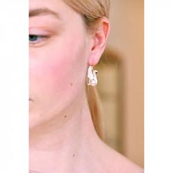 Boucles D'oreilles Pendantes Boucles D'oreilles Pendantes Cygne Blanc Et Perle Baroque Blanche