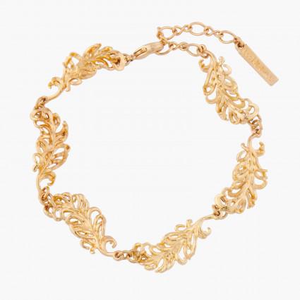Bracelets Fins Bracelet Plumes De Cygne Doré130,00€ AKCY203/1Les Néréides