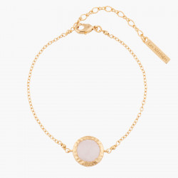 Pink Quartz Chain Bracelet