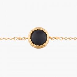 Bracelets Fins Bracelet Fin À Chaîne Onyx Noir