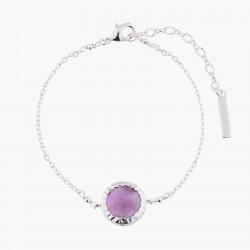 Violet Amethyst Chain Bracelet