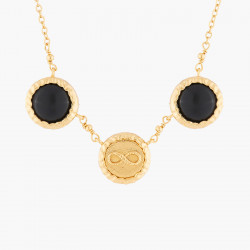 Colliers Fins Collier Pendentif Infini Et Onyx Noir